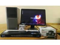 QUICK & FAST SSD Dell 980 4 Quad CAD Desktop Computer PC With Dell 21