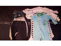 Boy 3-6 month bundle sleepsuits & trousers