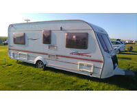 Coachman Amara 530/4 4 berth caravan 2005. Fixed double bed. Awning included