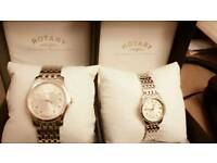 Brand new Rotary watch for Him & Her with warranty card.