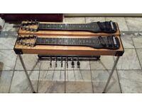 Double 8 Pedal Steel Guitar - Denley Custom - lap steel, console steel, 1960s