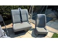 Front Van Seats, VW T5, Single and double.