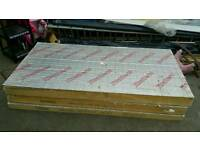 "PIR INSULATION BOARD 125mm SHEETS 1200mm x 2400mm 5"" LIKE KINGSPAN CELOTEX 8 x 4 - FOIL FACED"