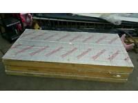 "PIR INSULATION BOARD 125mm SHEETS 1200mm x 2400mm 5"" LIKE KINGSPAN CELOTEX 8 x 4 - FOIL FACED"