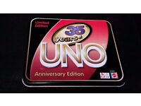 UNO 35 Years Anniversary Edition Brand New in the Box Never Used FREE UK POSTAGE