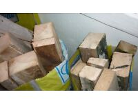 10 Bags of logs and blocks.