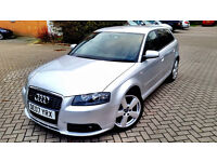 Silver Audi A3 2.0 TDI S LINE SPECIAL EDITION Diesel SPORT BACK 5 DOORS Leathers tinted windows PX