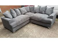 THE STAMFORD 2C2 JUMBO CORD GREY CORD SOFA BRAND NEW HAND MADE SOFA TOP QUALITY AMAZING PRICE £349