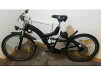 36V Electric mountain bike,twist & go or PAS,6 gears,full frame suspension,lights