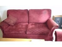Suite - red sofa and 2 chairs