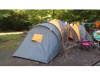 Tesco 9-Man 3-Bedroom Family Tent grey and orange
