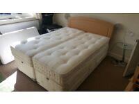 Kingsize divan bed and mattress