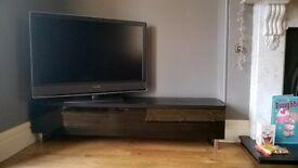 "TV Stand - Brand New & unboxed, Retails £300 - sleek & mimimalist, TVs upto 80"", IR friendly doors"