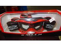 smiths motocross motox quad enduro racer pack goggles red