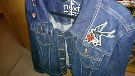 Women's brand new next crop denim jacket size 18