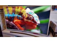 "SAMSUNG UE55JU6510 Smart 4k Ultra HD HDR 55"" Curved LED TV 2016 Model..Top Stylish White TV.RRP £999"