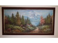 Sacis Oil Painting in Beautiful Wooden Frame