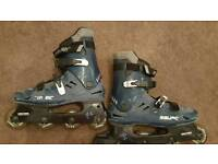For sale is a pair of Bauer rollerskates.
