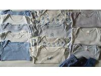 Bundle of Boy's Bodysuits 9 - 12 Months and Bibs