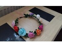 ROSE FLOWERS CROWN HEADBAND PARTY WEDDING BRIDAL GARLAND HAIRBAND
