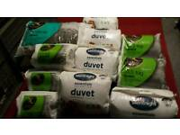 Duvets and blankets and pillows new and sealed