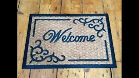Welcome doormat door mat