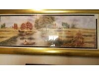 Large Framed Print Of Sohan River Framed In Gilt Frame