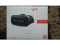 VR, BRAND NEW in box, with bluetooth remote and speaker