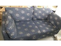 3 x three seater sofas in blue pattern. Plus I have 6 x armchairs in cream pattern