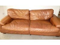 Large leather sofa for sale.