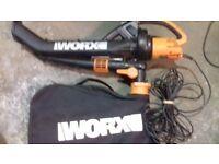 Worx garden vac/leaf blower 3000w