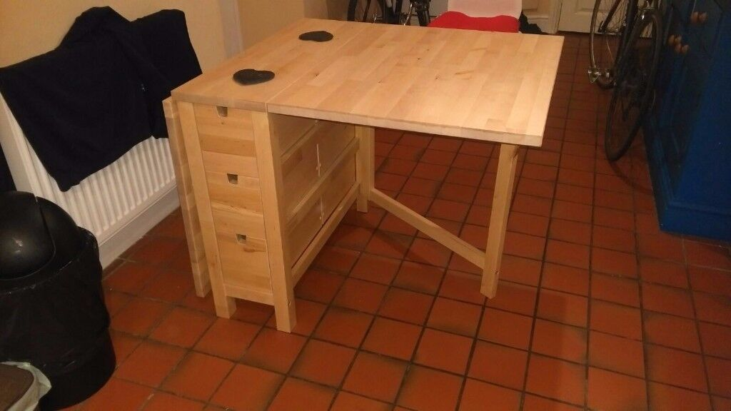 Solid Wood Gateleg Table with 6 Drawers LIKE NEW BARELY  : 86 from www.gumtree.com size 1024 x 576 jpeg 60kB