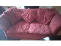 Nice red laura ashley sofa bed