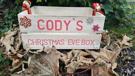 Hand made personalised Christmas Eve boxes