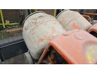 240v cement mixer for sale x2