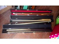 SNOOKER CUE/REST COLLECTION