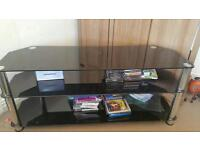 Glass tv stand black up to 60 inch tv