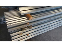 Roof Sheets 10' - Galvanised STEEL Corrugated Roofing Sheets Unused 10' Long