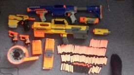 Nerf collection (Open to offers) featurig Deploy cs-6, raider cs-36 and more