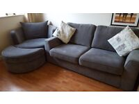 Sofa, Cuddlechair and Footstool for sale!