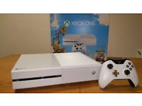 White XBox One with Choice of ONE Controller