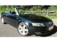 2005 AUDI A4 CABRIOLET 3.0 QUATTRO SPORT *80,000* *NEW MOT* *BOSE* CONVERTIBLE BMW 325 330 VW GOLF