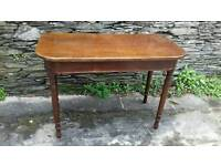 Victorian mahogany Curved Front Side Table