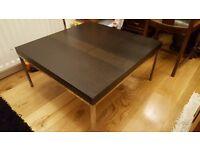 Ikea Klubbo Black Brown Coffee Table