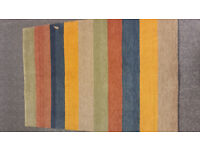 NEW HAND KNOTTED INDIAN RUG - Modern design 200 cm x 140 cm - 100% wool pile