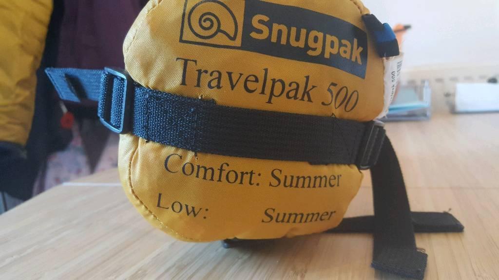 snugpak travel pack 500 sleeping bag