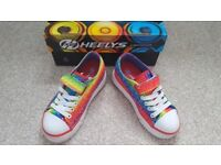 Rainbow Heeleys WORN ONCE size childs 11