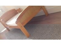 Toddler bed (solid wood) with mattress