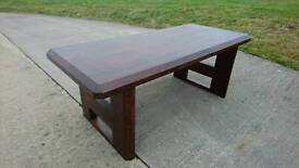 Solid sheesham wood dining table, stunning