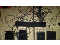 Surround sound speaker system.